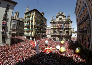 Pamplona, Spain: A view of City Hall Square