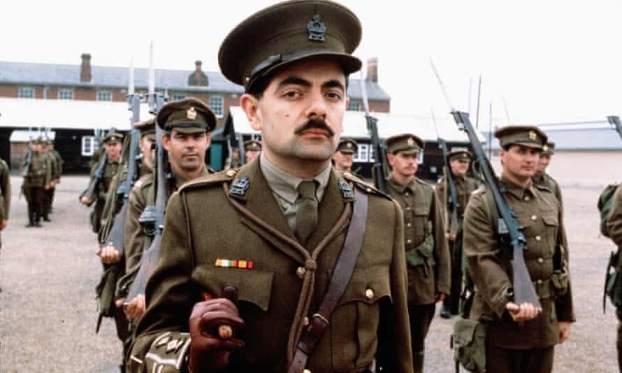 Rowan Atkinson in Blackadder Goes Forth, 1989.