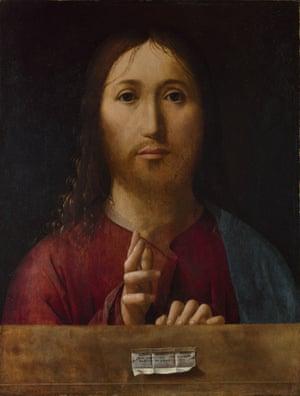 Christ Blessing, 1465, by Antonello da Messina