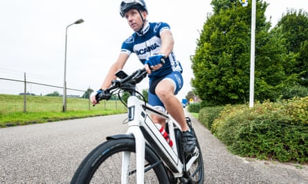 Marc Dekker commutes 80 miles a day on his 'speed pedelec' e-bike.