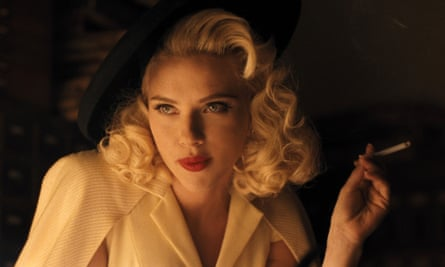 No smoke without ire … Scarlett Johansson in Hail, Caesar! (2016), which is rated PG-13.