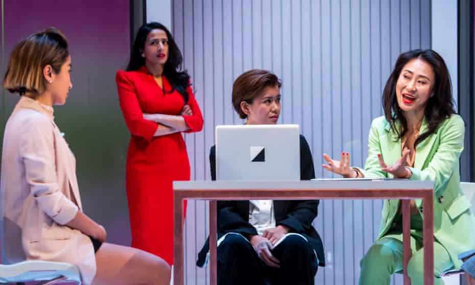 Kae Alexander (Built), Farzana Dua Elahe (Priya), Katie Leung (Sunny) and Minhee Yeo (Soo-Jin) in White Pearl.