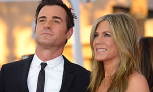 Justin Theroux and Jennifer Aniston arrive for the Screen Actors Guild awards ceremony in 2015.