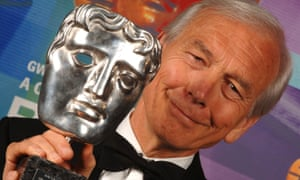 John Humphrys holds a Bafta silver mask. The veteran broadcaster was as notorious for his controversy as he was renowned for his triumphs.