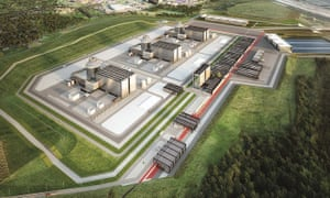 An artist's impression of how NuGen's Moorside nuclear plant in Cumbria may look.