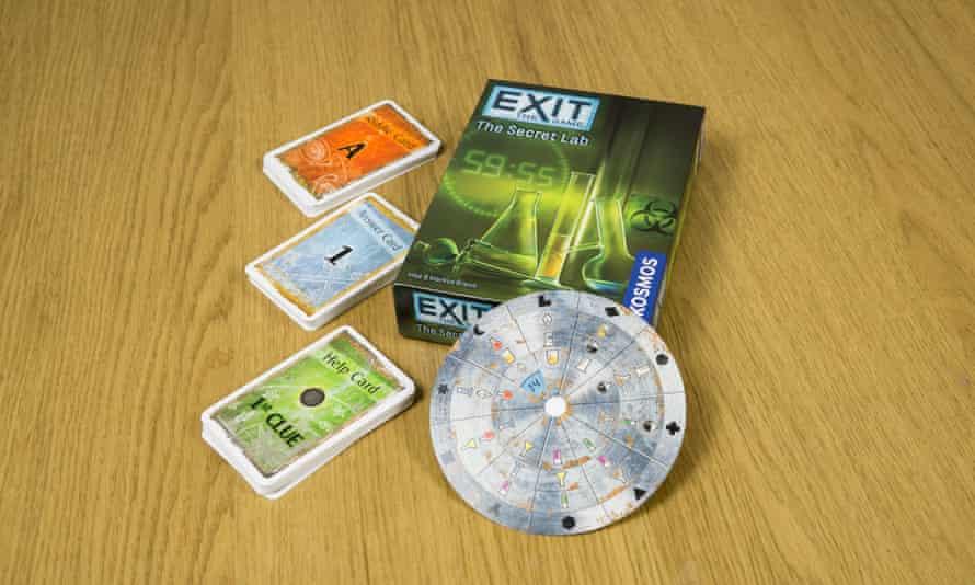 Exit escape room game.