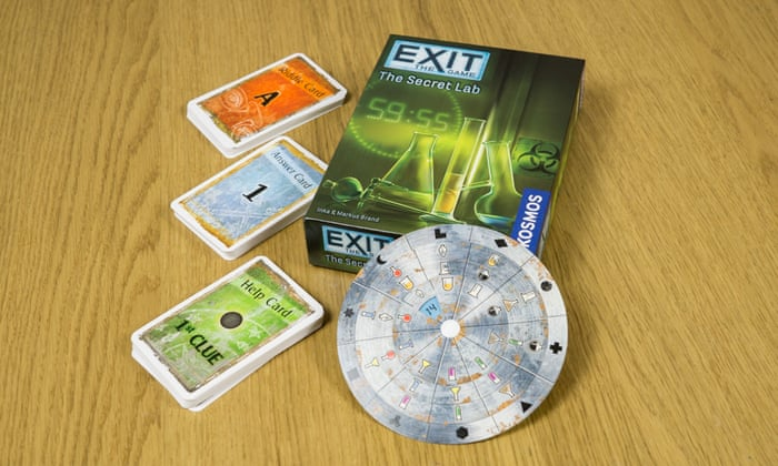 Exit: The Game creates an escape room experience on your dinner table, like a miniature Crystal Maze or Krypton Factor.