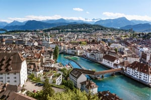 View over the old town of Lucerne