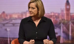 Amber Rudd on the Andrew Marr show on Sunday morning.