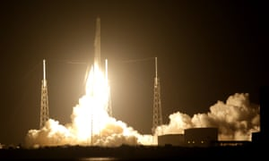 The Falcon 9 SpaceX rocket lifts off from launch complex 40 at the Cape Canaveral Air Force Station in Florid.