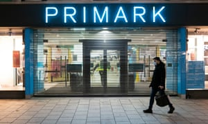 A closed Primark store in Cardiff, Wales.
