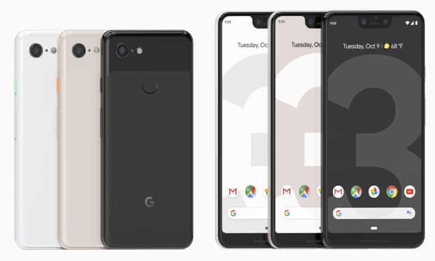 Google Pixel 3 and Google Pixel 3 XL smartphones
