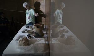 Archaeologist Angela Rabelo shows artefacts rescued from the ashes of the fire that swept through Rio's National Museum in September.