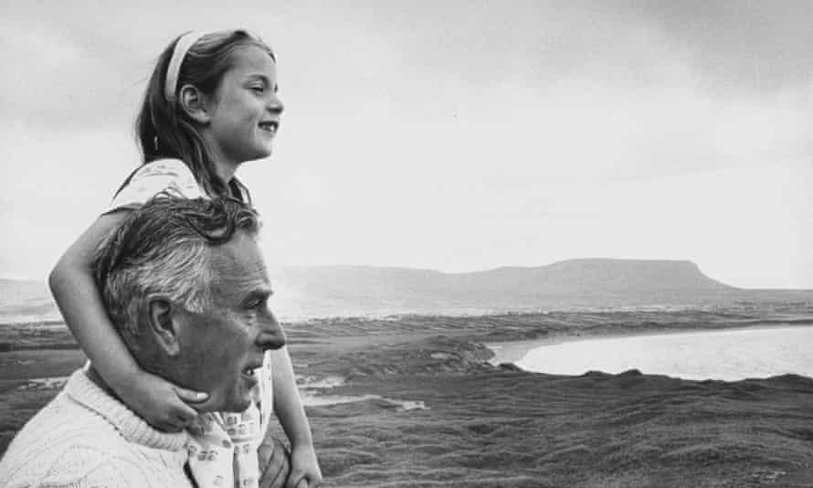 Mountbatten with one of his grandchildren near Classiebawn.
