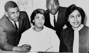 The supreme court in 1954 ruled in favour of Linda Brown, pictured second from left, and the other black applicants turned away from Kansas's all-white schools.