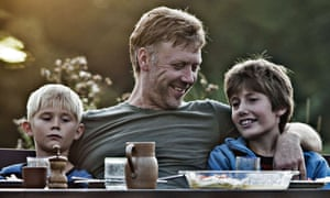 The Swedish actor Mikael Persbrandt, with his young co-stars, played the lead role in Bier's Oscar-winning In A Better World.