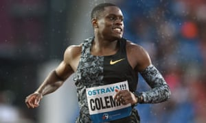 Christian Coleman is the fastest man in the world this year and favourite for the 100m at the upcoming world championships in Doha.