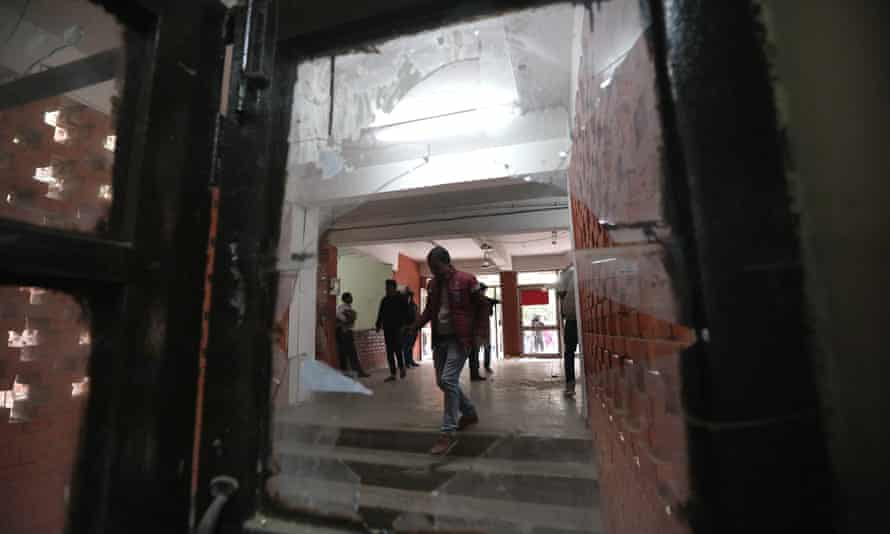 The Sabarmati hostel at the Jawaharlal Nehru University campus in New Delhi, India, after the attack.