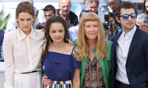 Riley Keough, Sasha Lane, Andrea Arnold and Shia LaBeouf at the film's photocall.