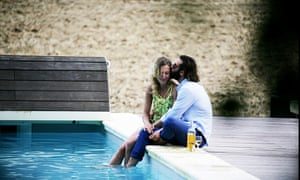 Stan and Maja by the pool, 'papped' by Snaplove Paparazzi