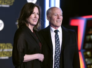 Hollywood powerhouse producers Kathleen Kennedy (also president of Lucasfilm) and husband, Frank Marshall.