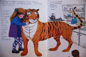 An annotated page from The Tiger Who Came to Tea