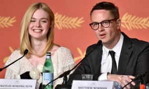 'I think there is something very terrifying in thinking the world can only be about beauty' … Elle Fanning and Nicolas Winding Refn at The Neon Demon press conference.