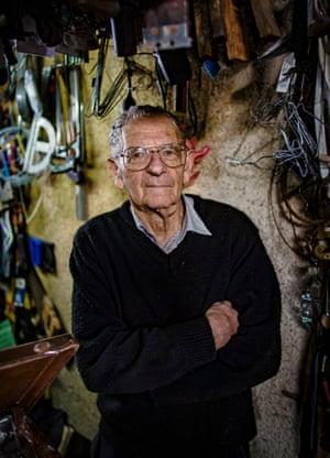 Alan Alder in his workshop