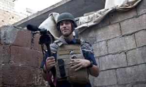 James Foley in Aleppo, Syria, 2012, photographed by friend and fellow journalist Nicole Tung.