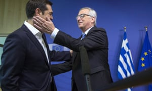 Alexis Tsipras and Jean-Claude Juncker