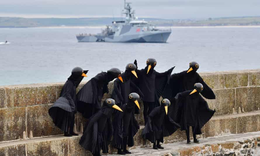 XR protesters dressed as Blackbirds