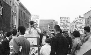Sam Aaronovitch addressing a street rally in Islington in the mid 60s