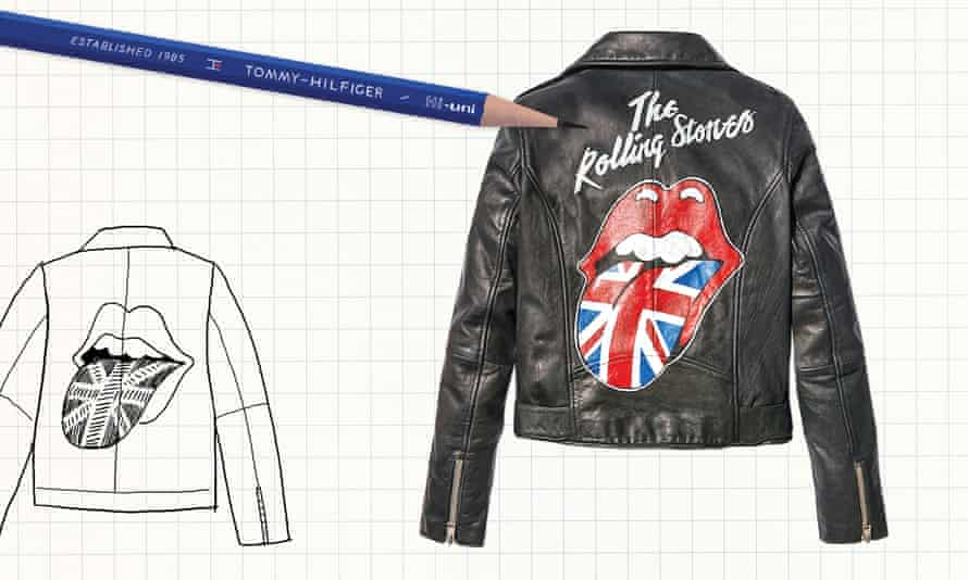 Tommy Hilfiger's Rolling Stones' leather jacket.