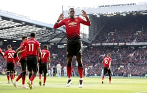 Manchester United's Paul Pogba celebrates scoring his side's first goal of the game.
