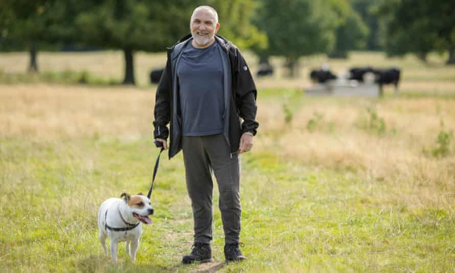 Steve Marsh, who suffers from chronic lung disease, said walking his dog Poppy in Dinton Park, Wiltshire, was