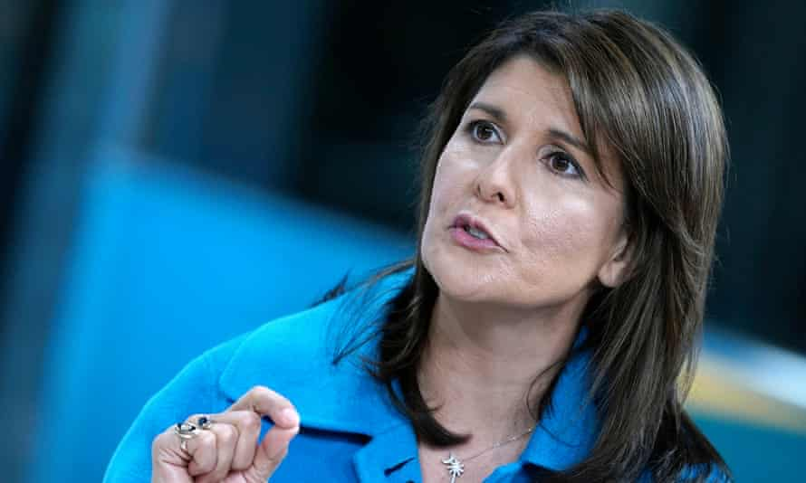 Nikki Haley: one of the few women of color in the Republican party's senior ranks.