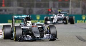 Hamilton stays ahead of Rosberg.
