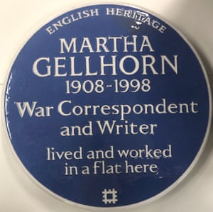 Martha Gellhorn's blue plaque