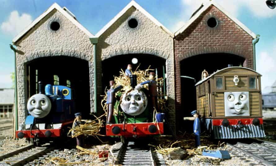 Thomas, Percy and Toby in Thomas the Tank Engine and Friends.
