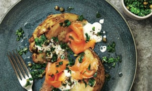Yotam Ottolenghi's baked celeriac with smoked trout and caper salsa