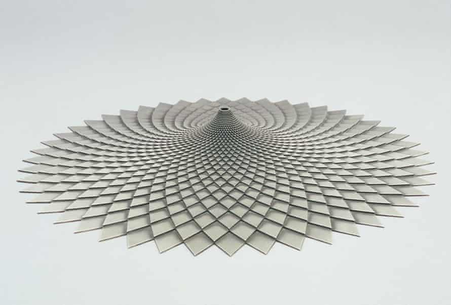Simon Thomas (British, b. 1960), <em>Planeliner,</em> 2005. Bead blasted stainless steel, 23 5/8 in. (60 cm) diam. × 2 1/4 in. (5.55 cm) high. Courtesy of the artist.