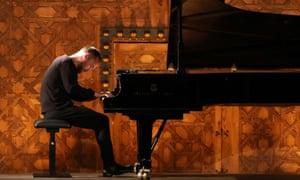 Igor Levit performs during the international festival in Granada, July 2020.