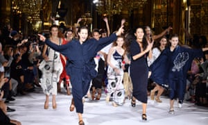 Models in party mood at Stella McCartney's Opéra Garnier show