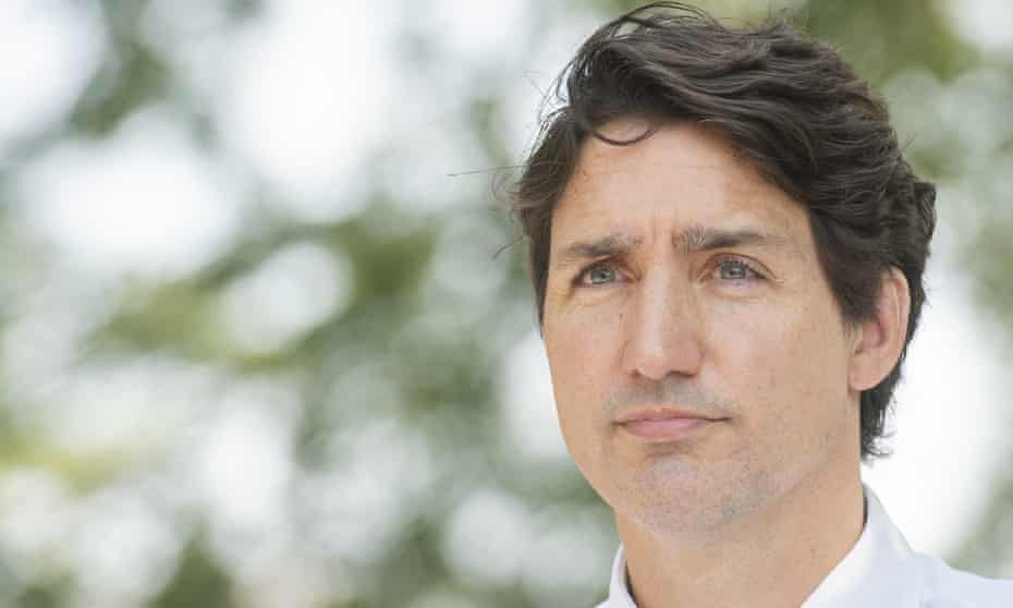 Justin Trudeau in Montreal on 5 August.