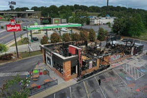 Burnt-out Wendy's restaurant