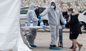 Israelis under home quarantine voted in separate polling stations.