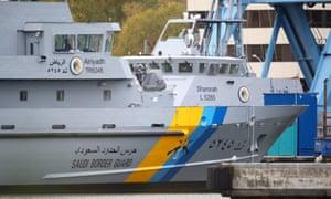 Coastguard vessels for Saudi Arabia at a shipyard in Germany