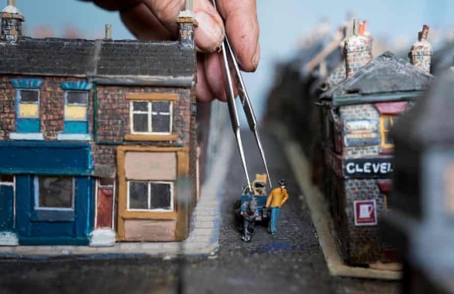 Steve's labour of love has recreated the area out of balsa wood with every building made and painted by hand including a million individual tiles and cobbles.