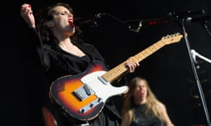 Anna Calvi performing at the Custard Factory in Birmingham.