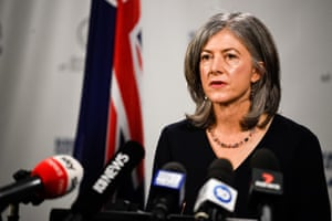 South Australia Chief Health Officer Nicola Spurrier speaks to the media during a press conference in Adelaide,